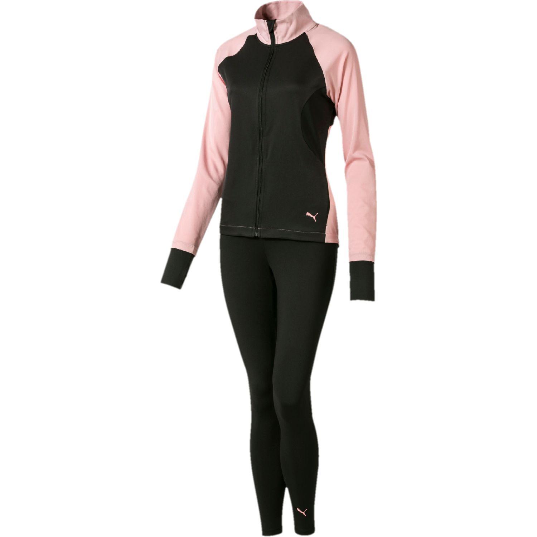Puma active yogini woven suit Negro / rosado Sets Deportivos Tops y Bottoms