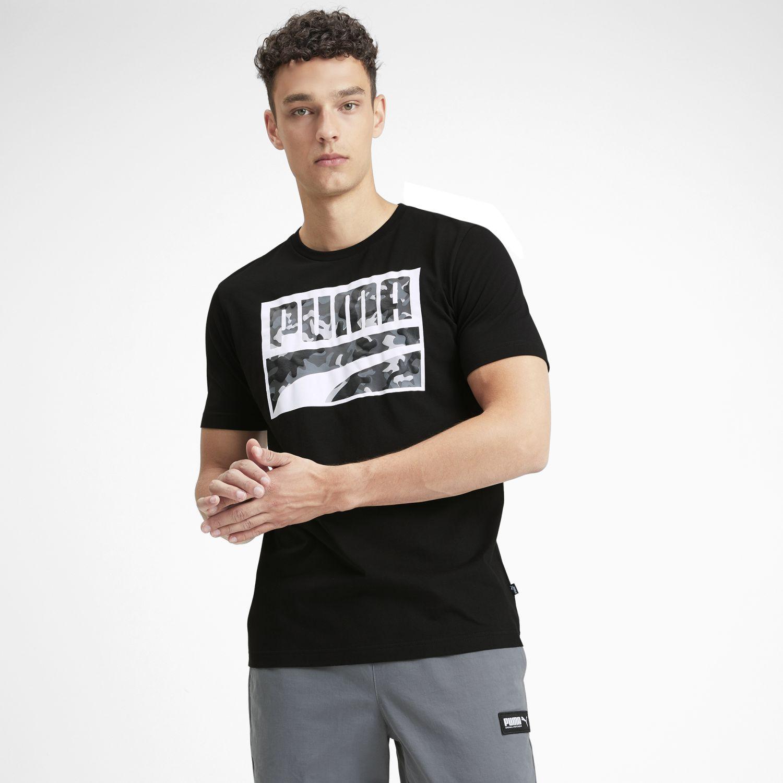 Puma Rebel Camo  Filled Tee Negro / blanco Camisetas y polos deportivos