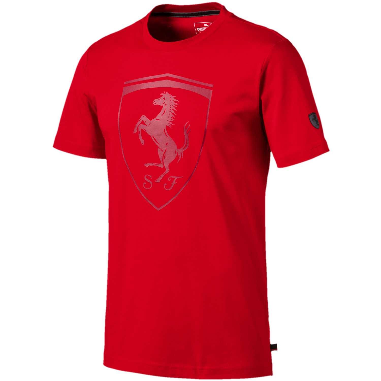 Puma Ferrari Big Shield Tee Rojo Camisetas y polos deportivos