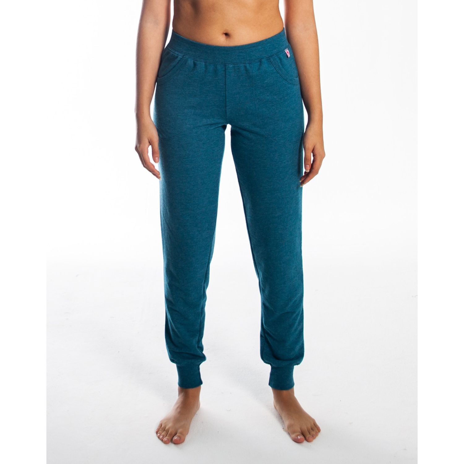 Rising Dragon jogger mujer french terry Turquesa Sets Deportivos Tops y Bottoms