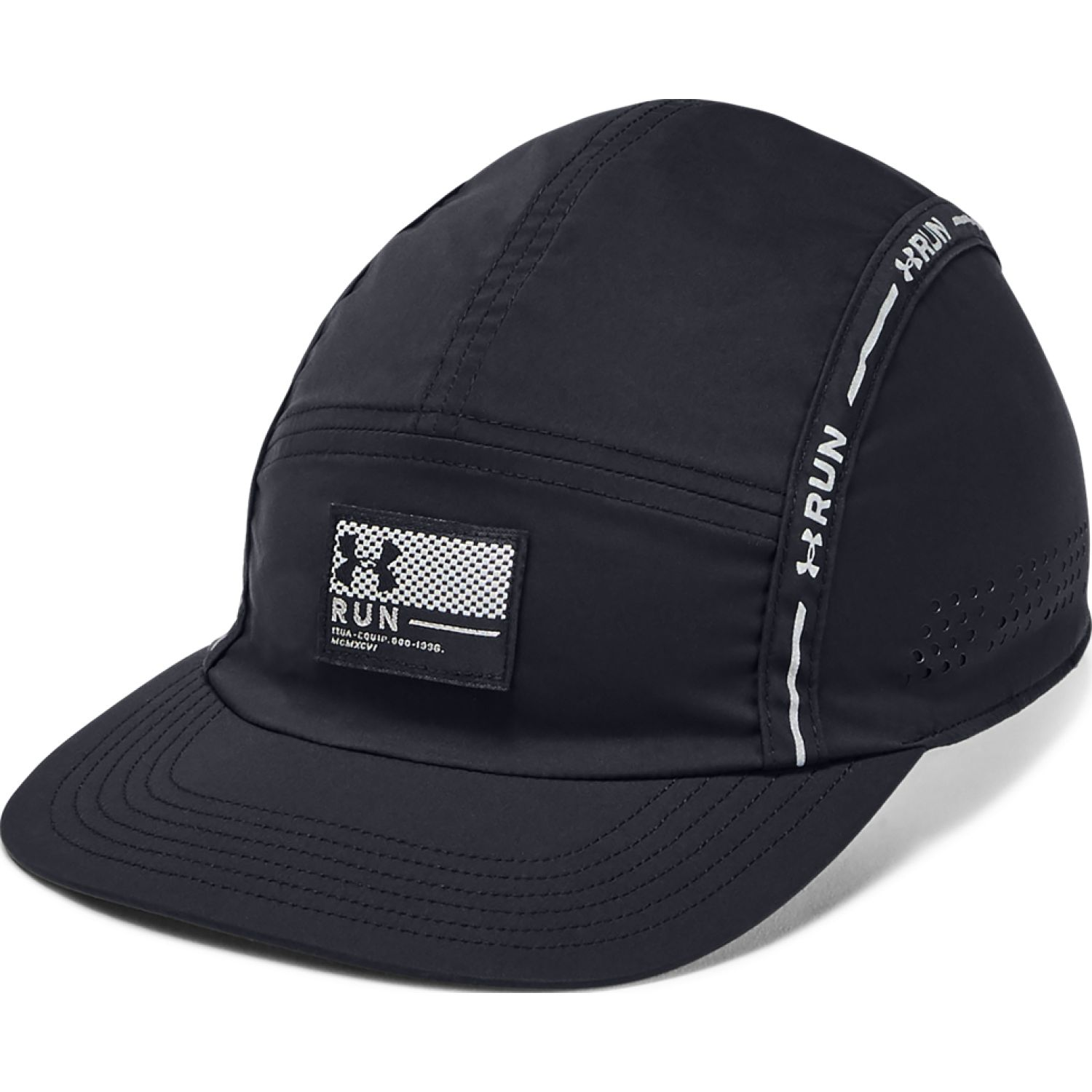 Under Armour men's tb run crew cap 3.0-blk Negro Gorros de Baseball