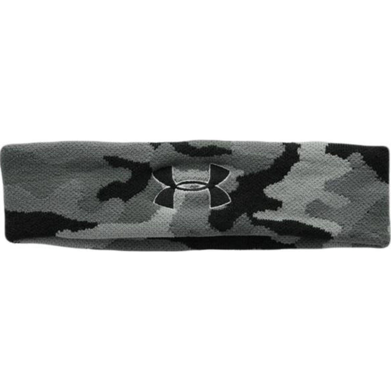 Under Armour ua jacquard headband Plomo / negro bandas para la cabeza