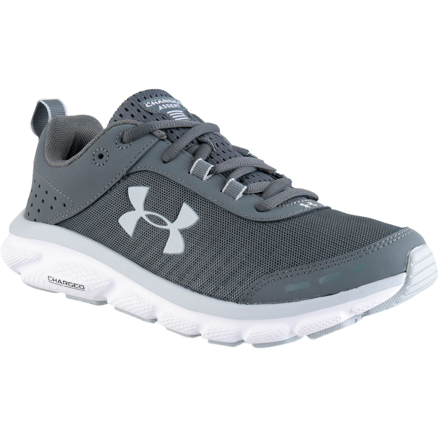 Under Armour ua w charged assert 8 PLOMO / BLANCO Running en pista