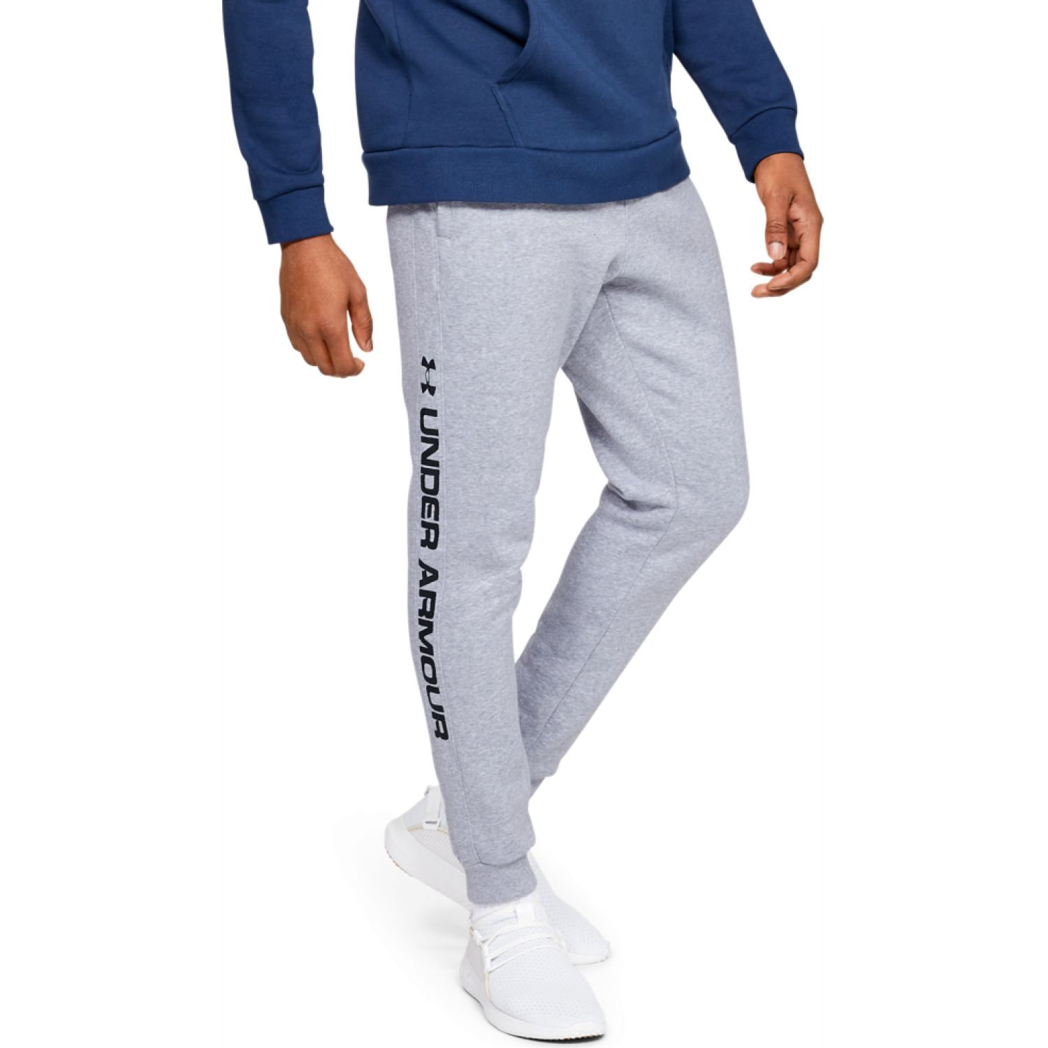 Under Armour rival fleece wordmark logo jogger Gris Pantalones Deportivos
