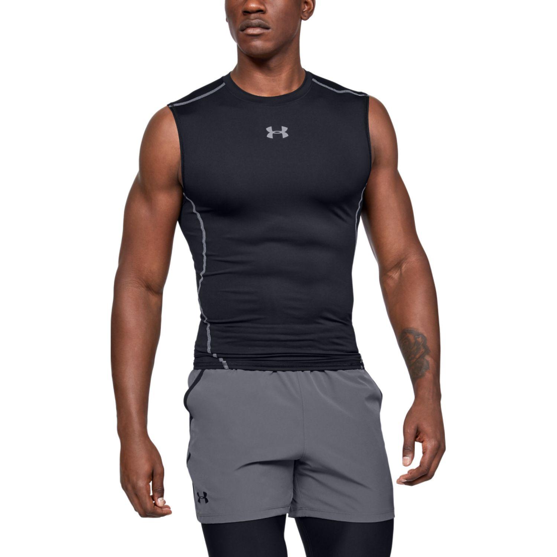 Under Armour armour hg sl t-blk//stl Negro Camisetas y Polos Deportivos