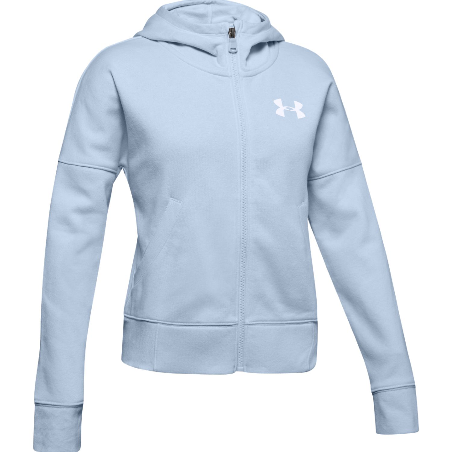 Under Armour Rival Full Zip Celeste Hoodies y Sweaters Fashion