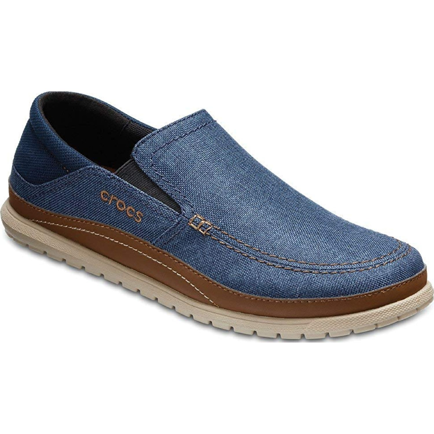 CROCS men's santa cruz playa slip-on Navy Oxfords