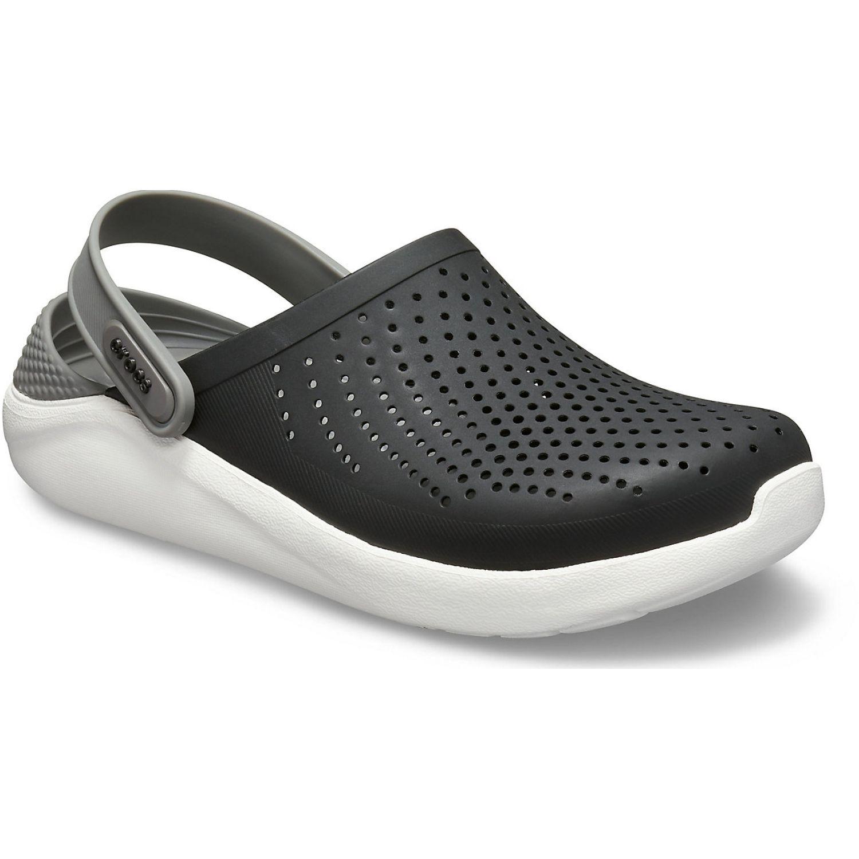 CROCS literide clog Negro / blanco Flats