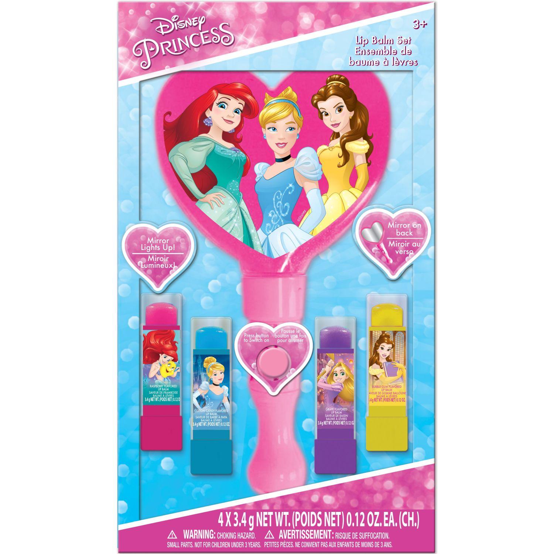 Princesas packx4bal.lab+espejo lum+disneyprinces Varios brillos de labios