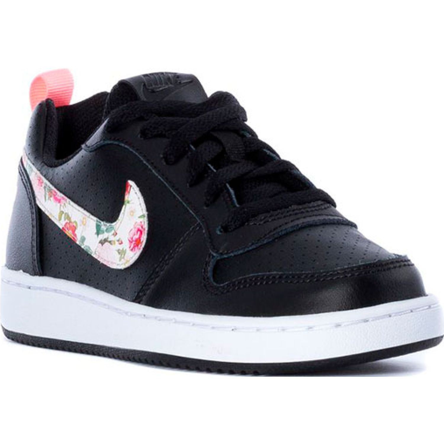 Nike nike court borough low vf gg Negro / rosado Chicas