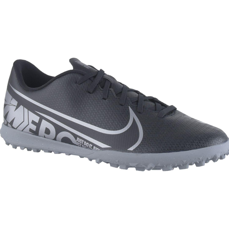 Nike Vapor 13 Club Tf Negro / plateado Hombres