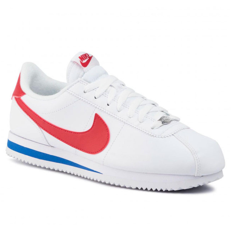 Nike cortez basic leather Blanco / rojo Walking