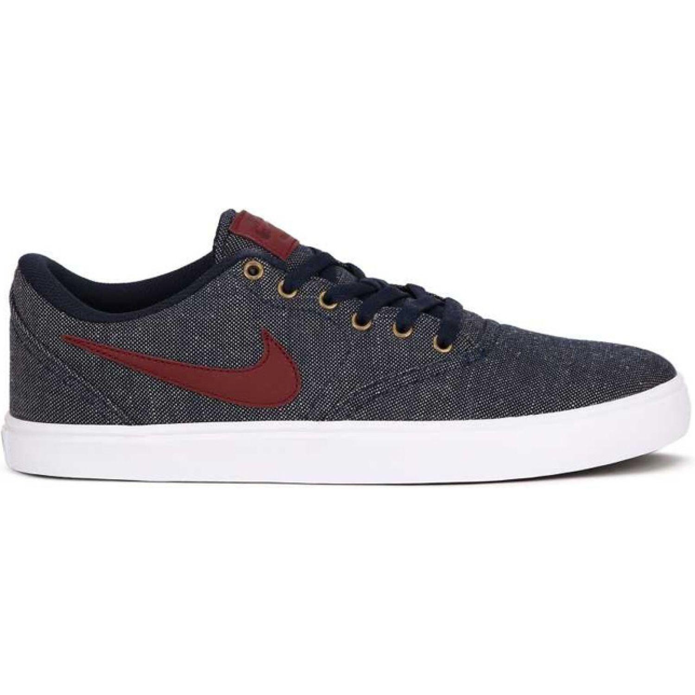 Nike Nike Sb Check Solar Cnvs Prm Navy Rojo Para Caminar Platanitos Com