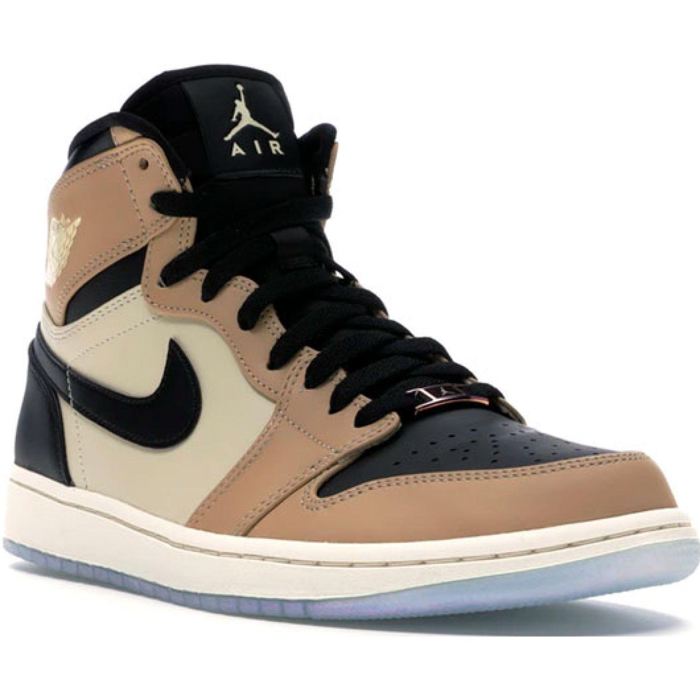 Nike wmns air jordan 1 ret hi prem CREMA / NEGRO Mujeres