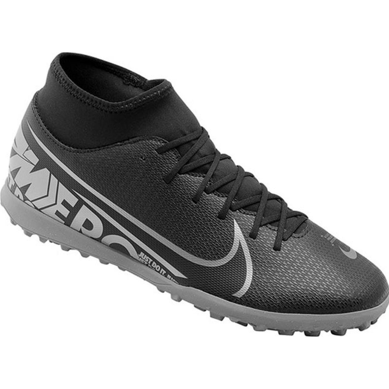 Nike superfly 7 club tf Negro / plomo Hombres