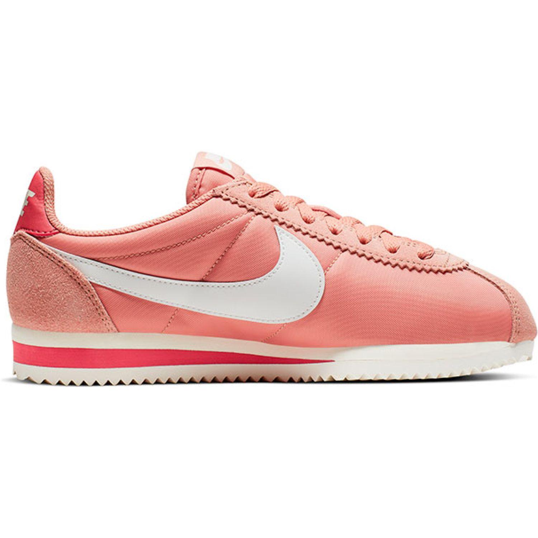 Nike WMNS CLASSIC CORTEZ NYLON Melon / blanco Walking