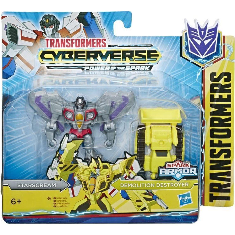 Transformers TRA CYBERVERSE SPARK ARMOR STARSCREAM Varios Figuras de Acción