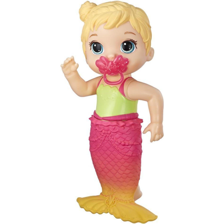 BABY ALIVE ba lil splashes mermaid bld hair Varios Figuras de acción