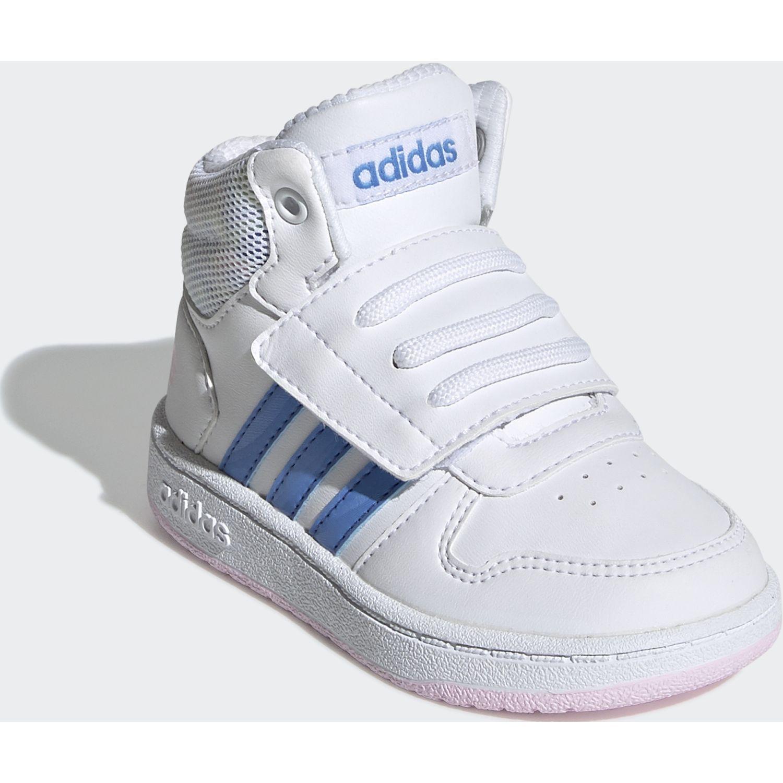 Adidas hoops mid 2.0 i Blanco / azul Chicas