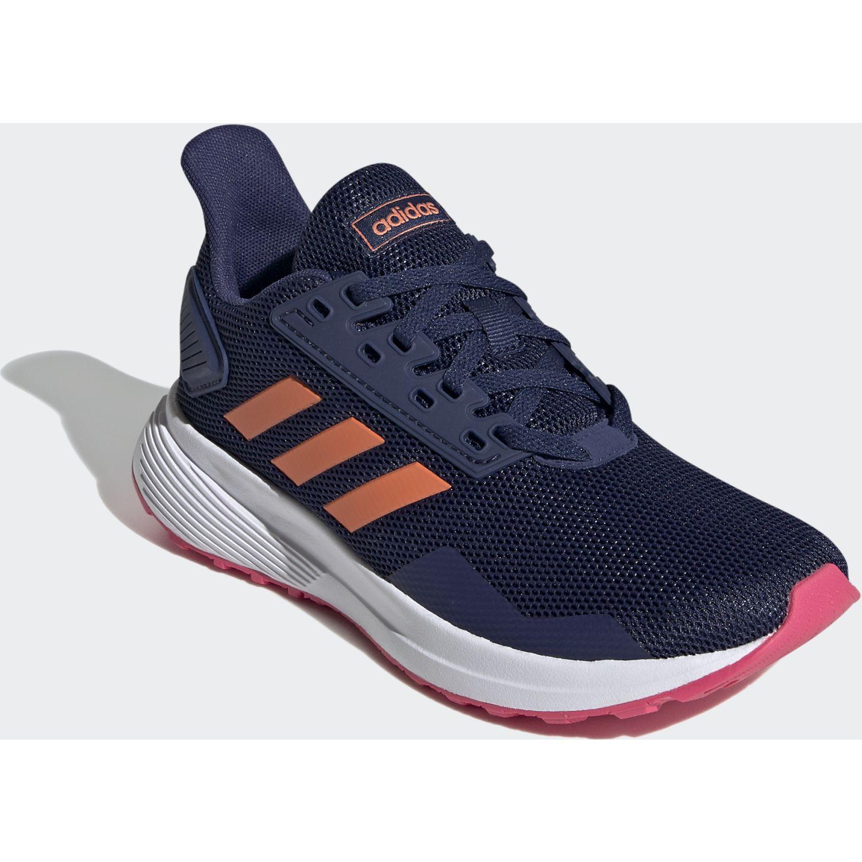 Adidas duramo 9 k Azul / naranja Chicas