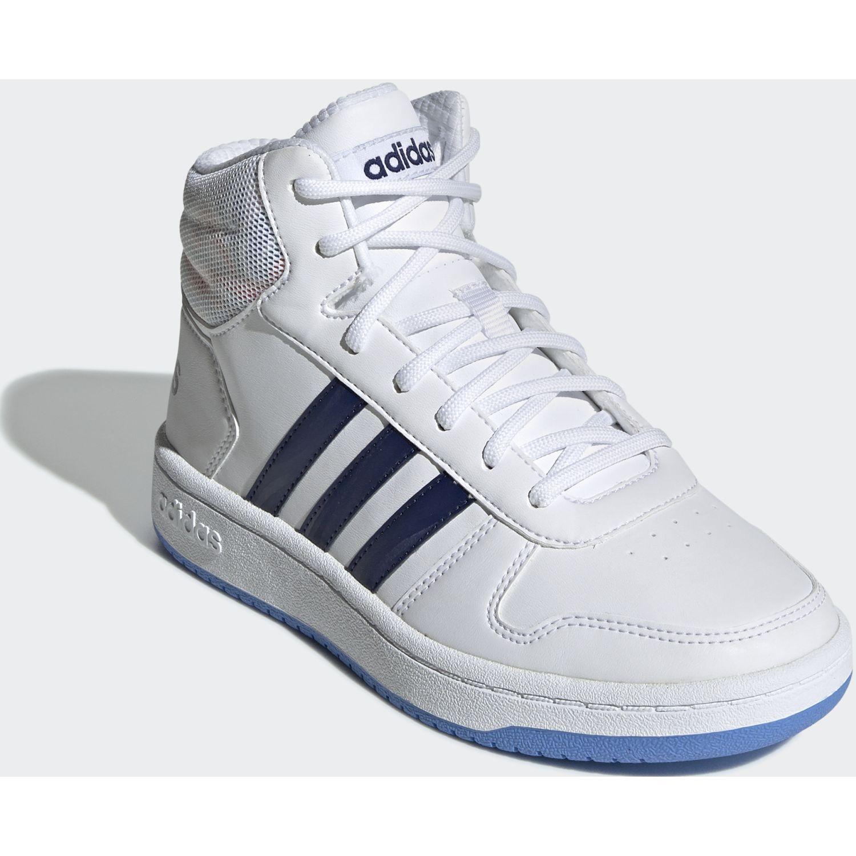Adidas hoops mid 2.0 k Blanco / azul Chicas