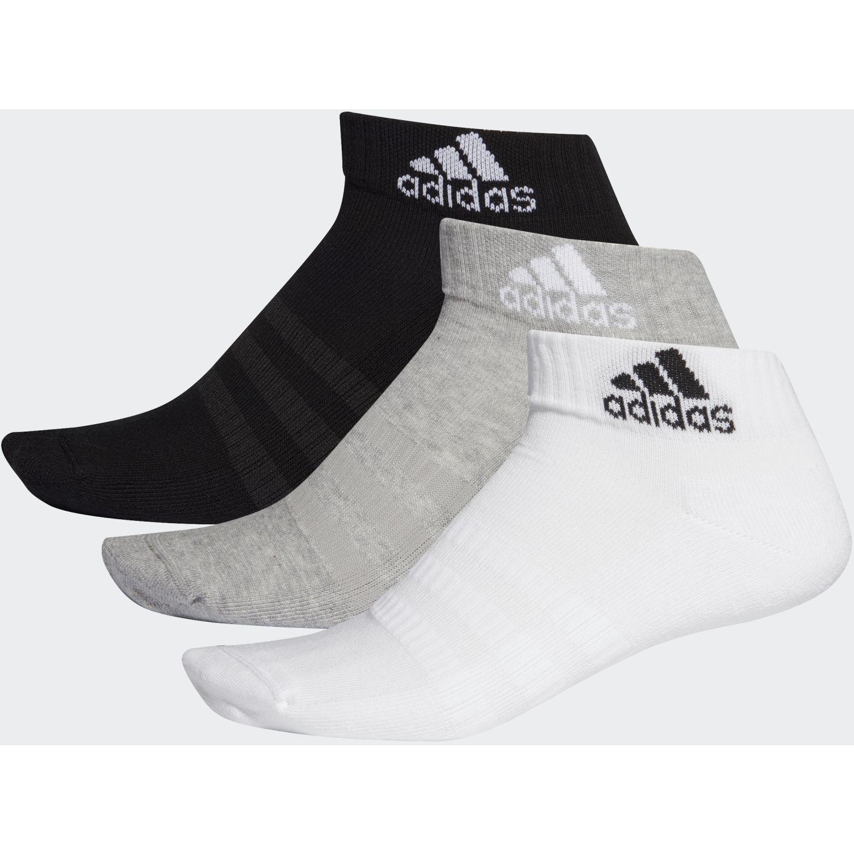 Adidas cush ank 3pp Negro / plomo Calcetines