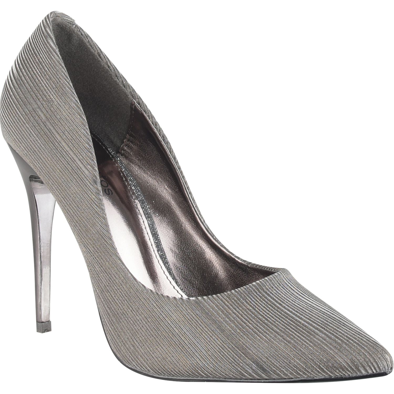 Platanitos F 1882 Pewter Estiletos y pumps