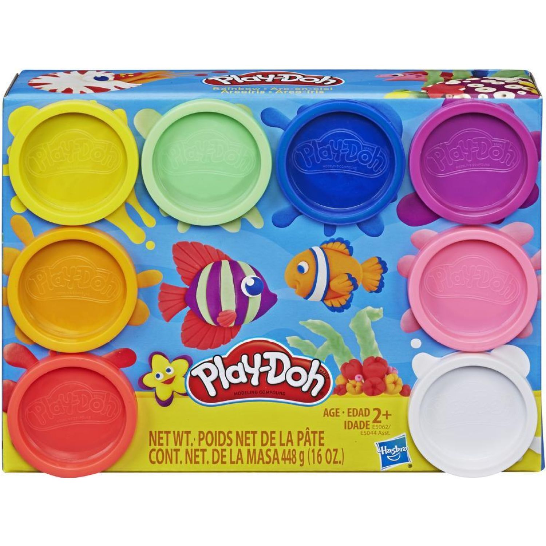 PLAY-DOH pd 8 pack rainbow Varios Palitos para moldear y esculturas