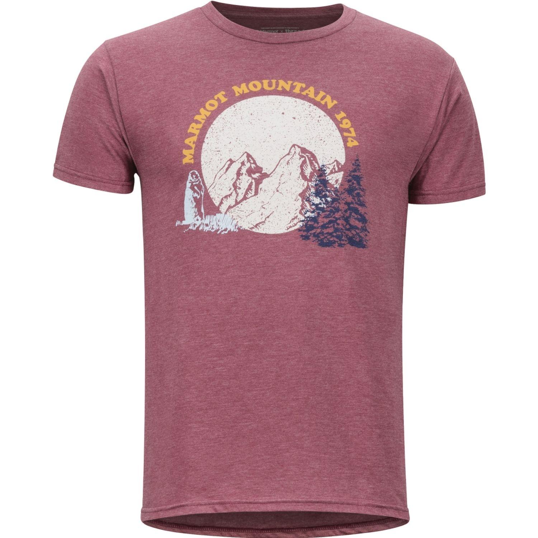 Marmot Boback Tee Ss Vino Polos