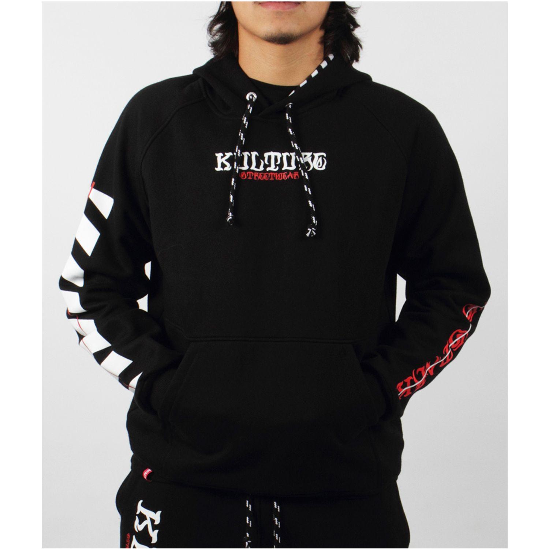 Kulture polera negra stripe Negro Hoodies y Sweaters Fashion