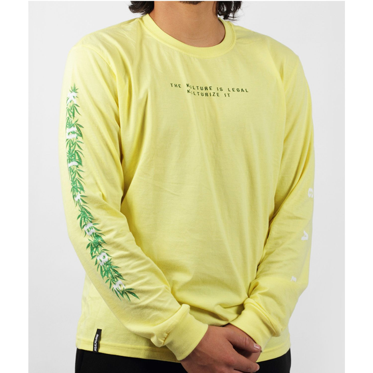 Kulture polo manga larga legal Amarillo / blanco Hoodies y Sweaters Fashion