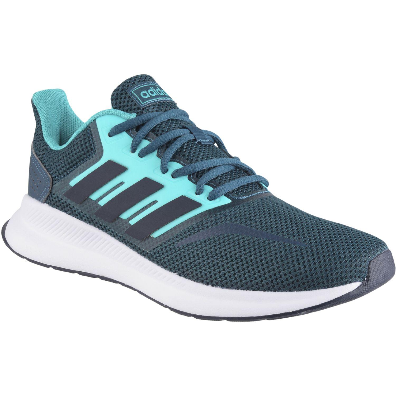 Adidas runfalcon Verde Running en pista