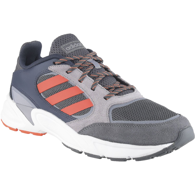 Adidas 90s valasion Gris / naranja Running en pista