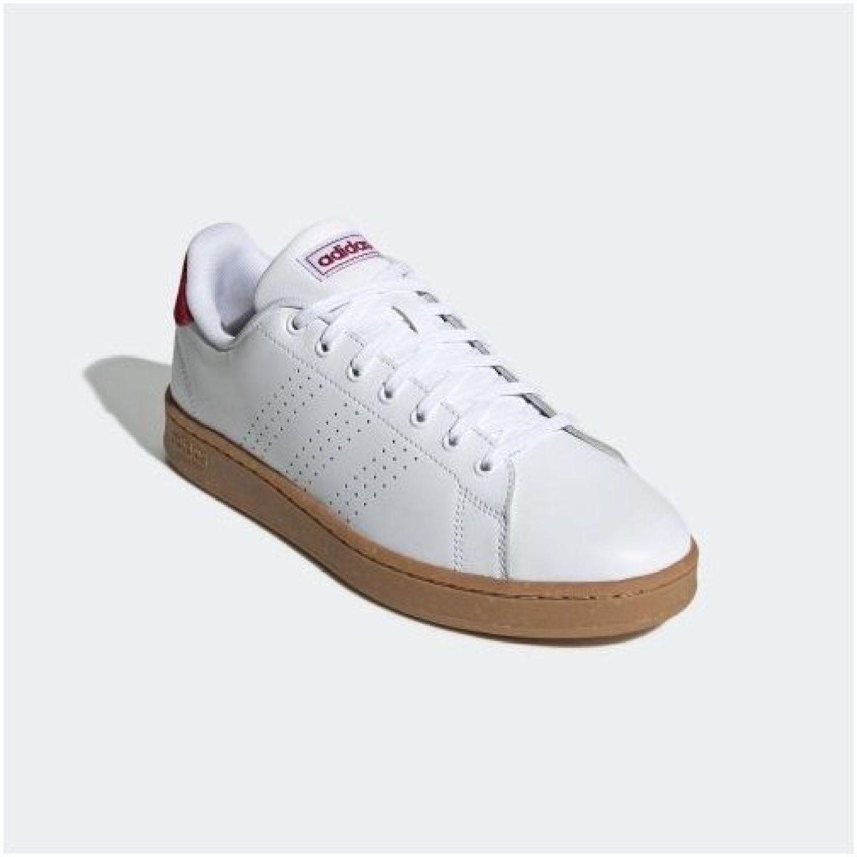 Adidas advantage Blanco / rojo Tennis & Deportes con Raqueta