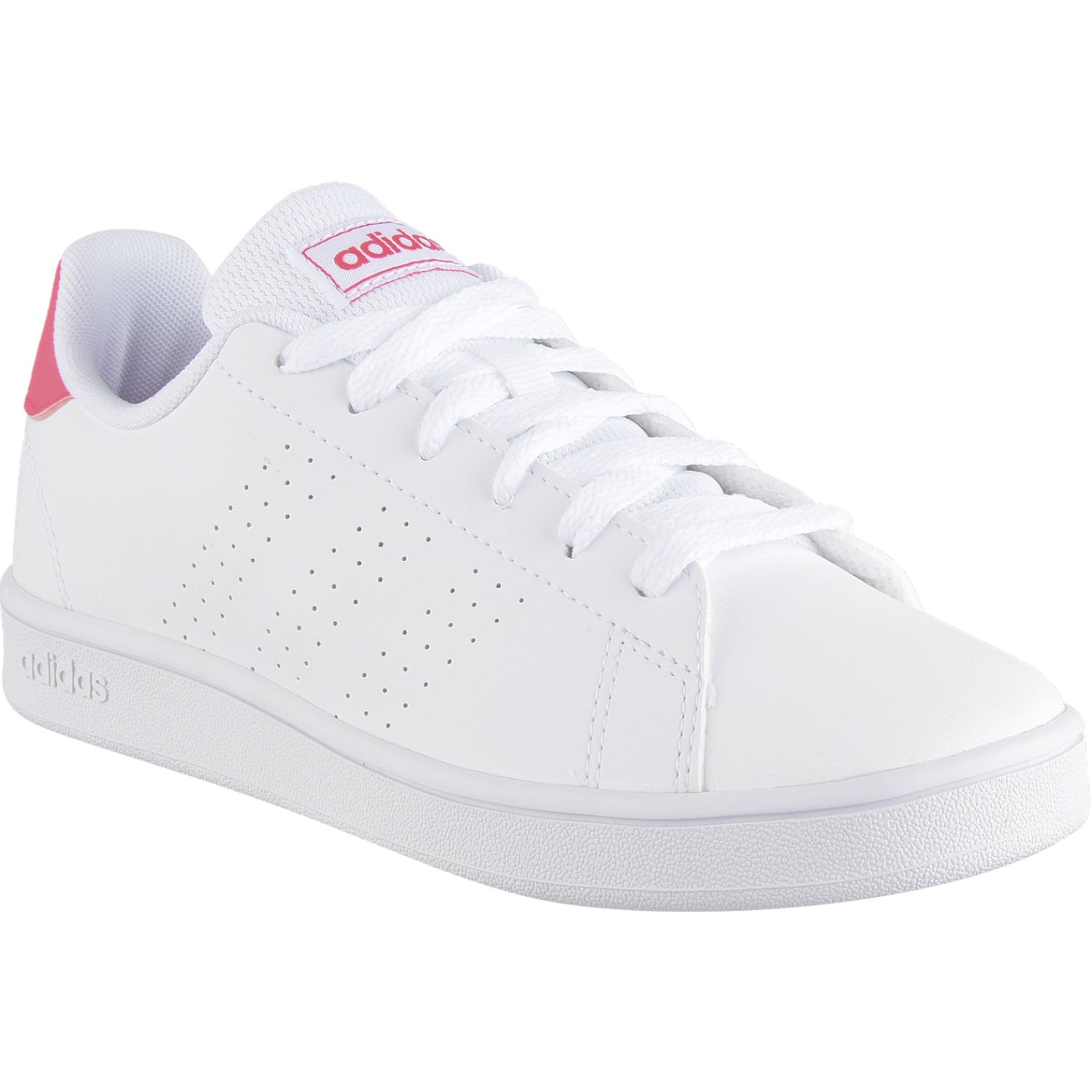 Adidas Advantage K Blanco / rosado Zapatillas