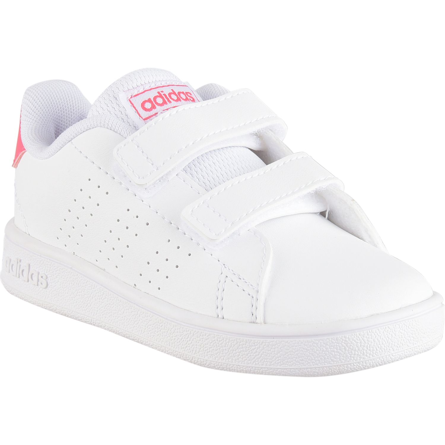 Adidas advantage i Blanco / rosado Zapatillas