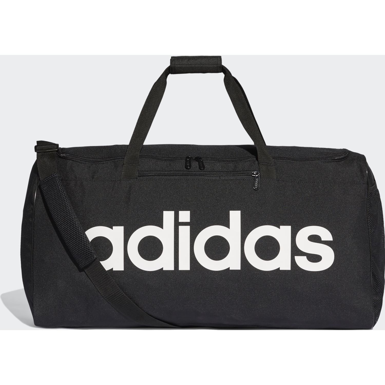 Adidas LIN CORE DUF L Negro / blanco Bolsos de gimnasio