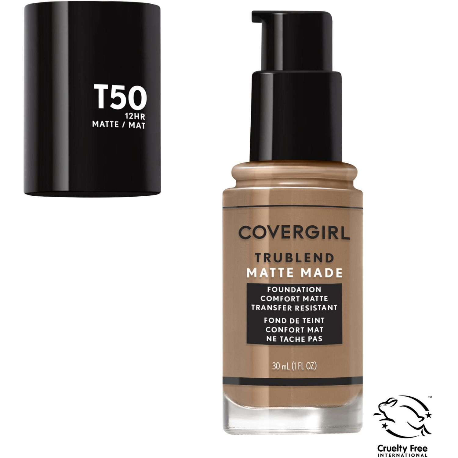 Covergirl Base Trublend Matte Made Liquid Makeup NATURAL TAN T50 Bases