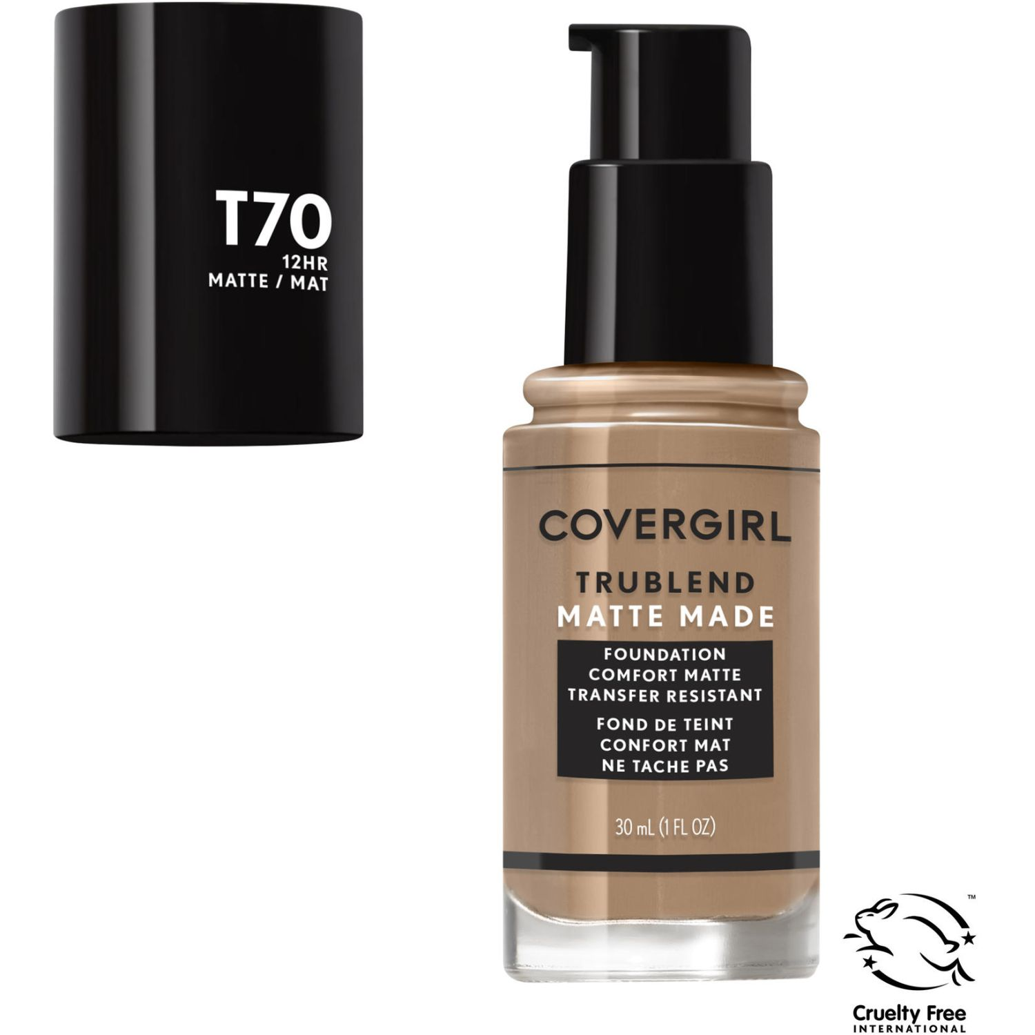 Covergirl Base Trublend Matte Made Liquid Makeup CARAMEL T70 Bases