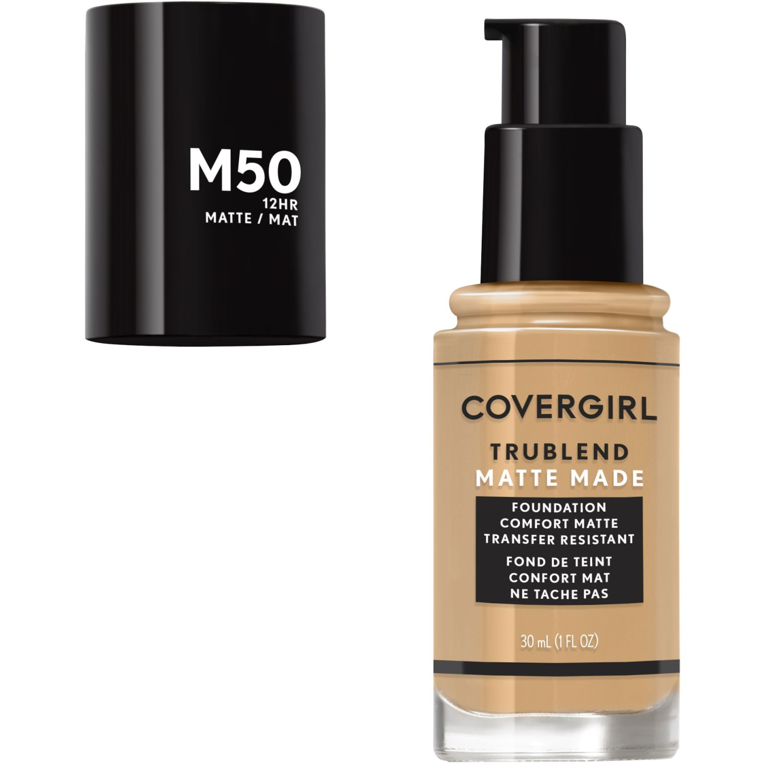Covergirl Base TruBlend Matte Made Liquid Makeup SOFT TAN M50 Fundación