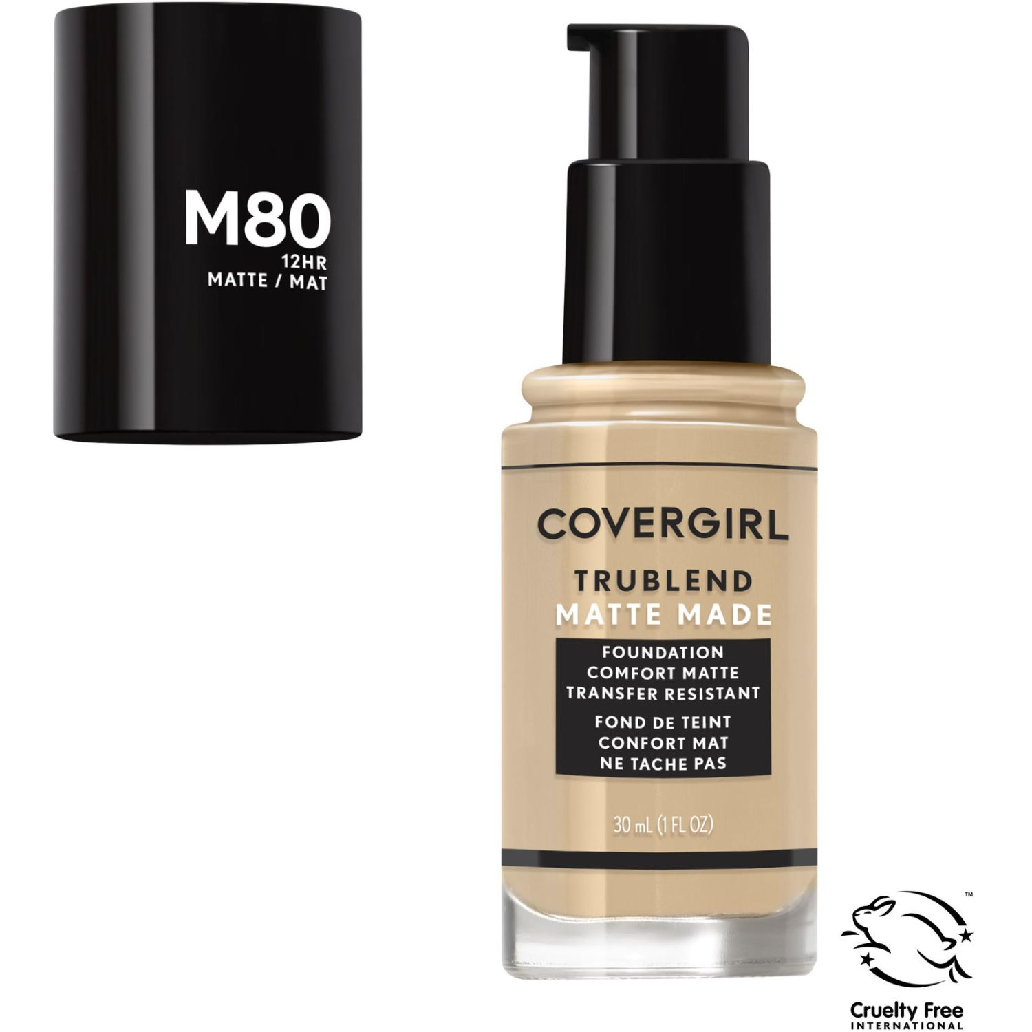 Covergirl Base TruBlend Matte Made Liquid Makeup CARAMEL BEIGE M80 Fundación