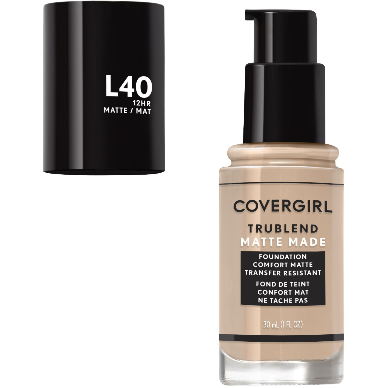 Covergirl Base TruBlend Matte Made Liquid Makeup CLASSIC IVORY L40 Fundación