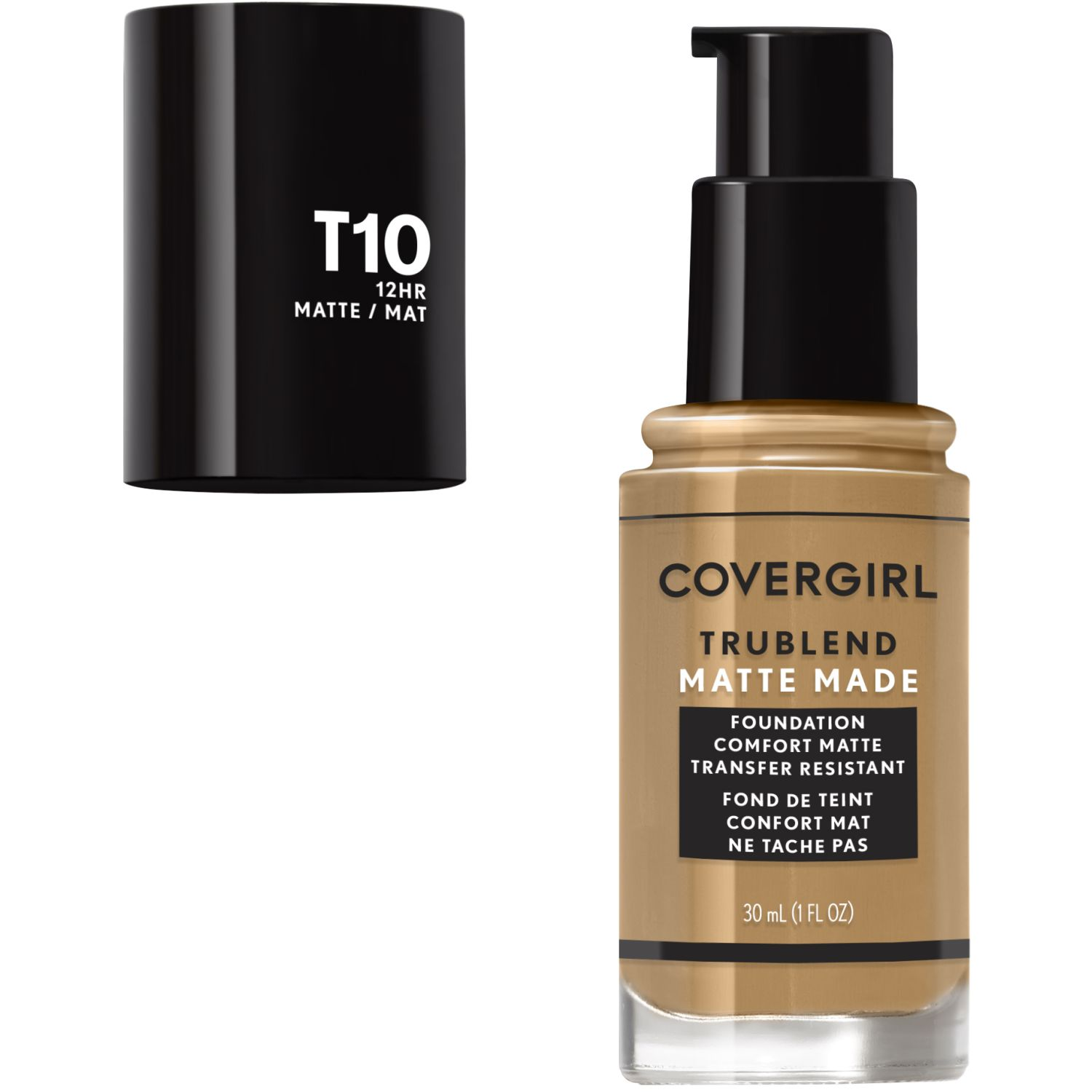 Covergirl Base Trublend Matte Made Liquid Makeup GOLDEN AMBER T10 Bases