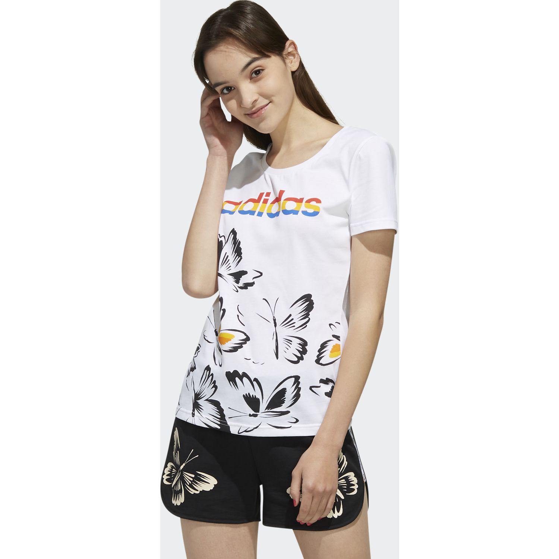 Adidas w farm p tshirt Blanco Polos