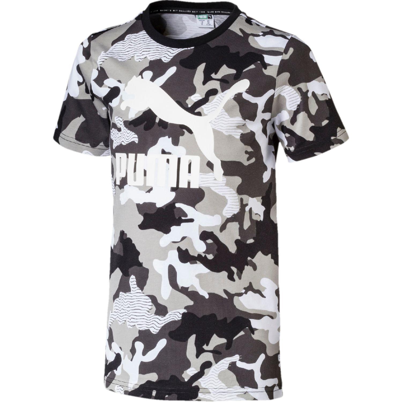 Puma CLASSICS AOP TEE B Blanco / negro Camisetas y Polos Deportivos