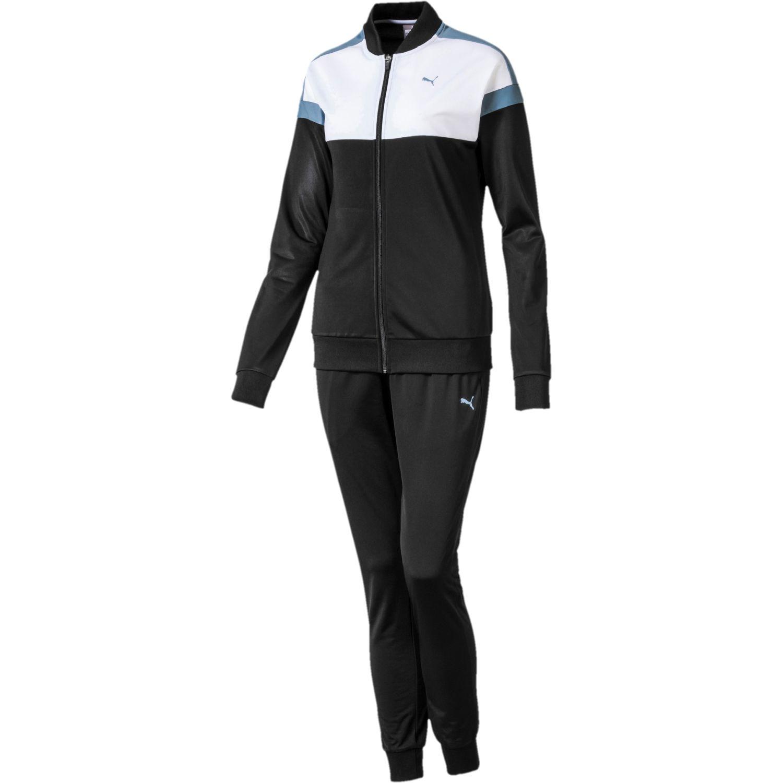 Puma colorblock tricot suit, cl Negro / blanco Sets Deportivos Tops y Bottoms