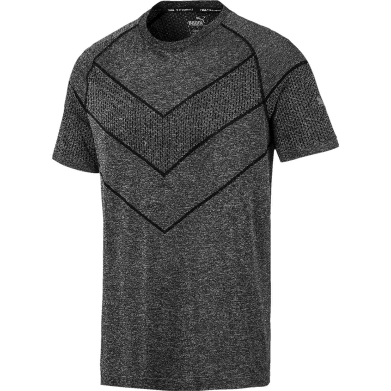 Puma reactive evoknit tee Plomo / negro Camisetas y Polos Deportivos