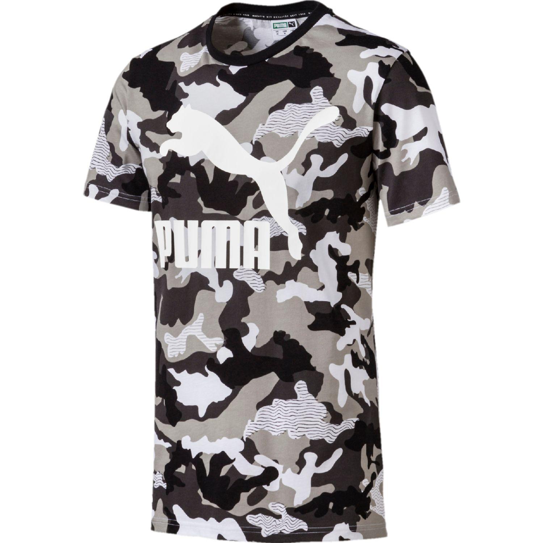 Puma classics graphics tee aop Blanco / negro Camisetas y Polos Deportivos