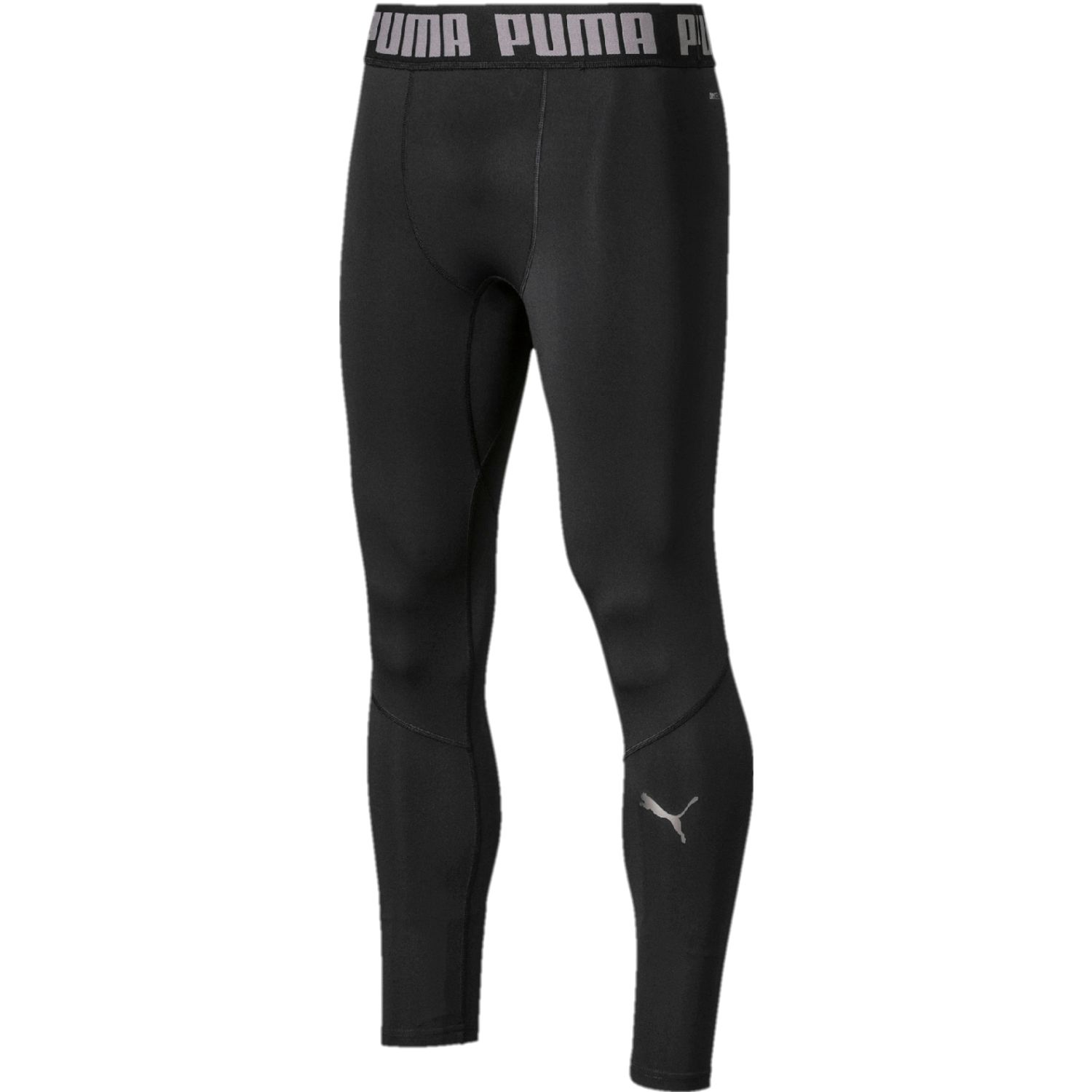 Puma puma bnd long tight Negro / blanco Pantalones Deportivos