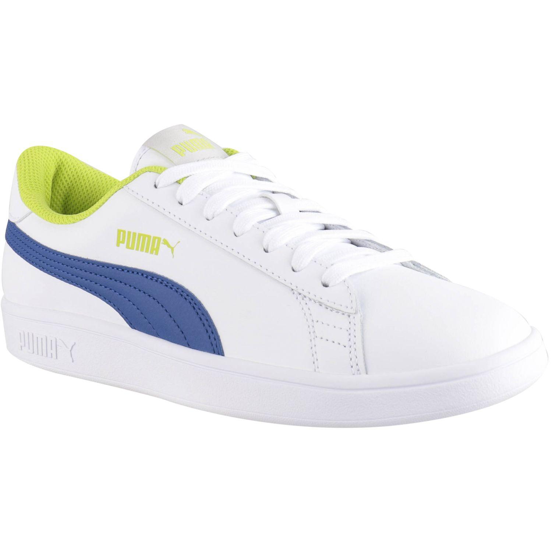 Puma PUMA SMASH V2 L JR Blanco / azul Walking